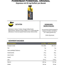 PowerBar PowerGel Original Sacoche 24 x 41g, Espresso